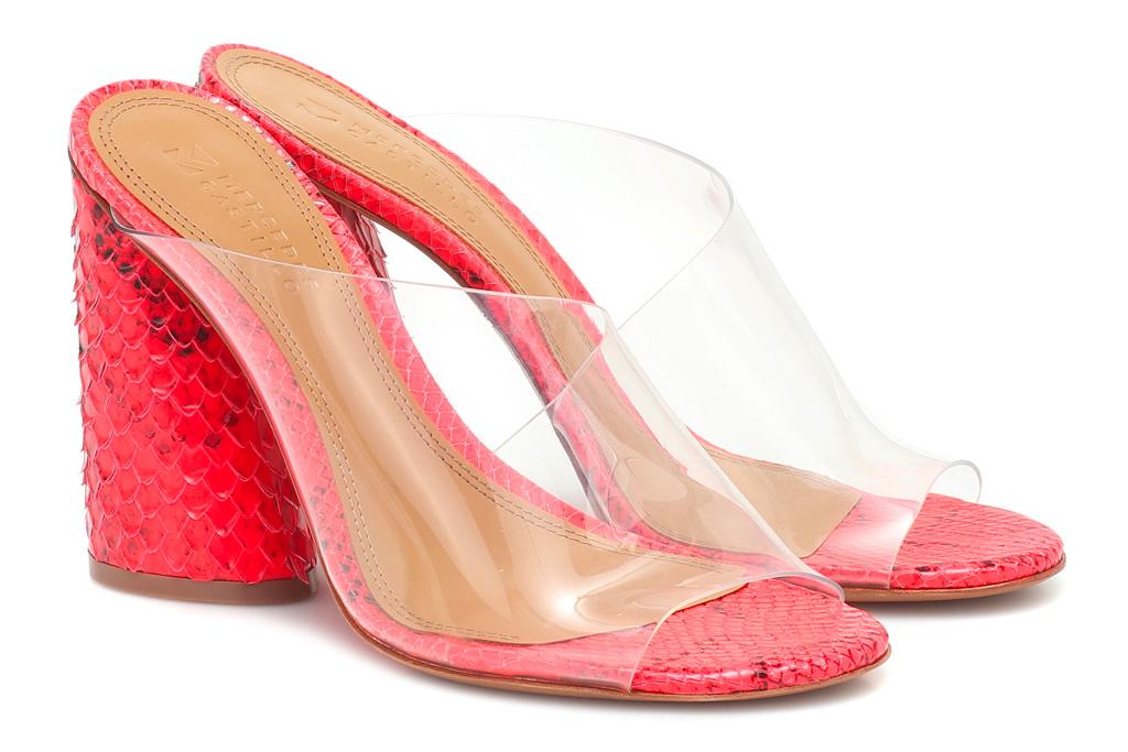 pvc heels, sandals, pink, mercedes castillo