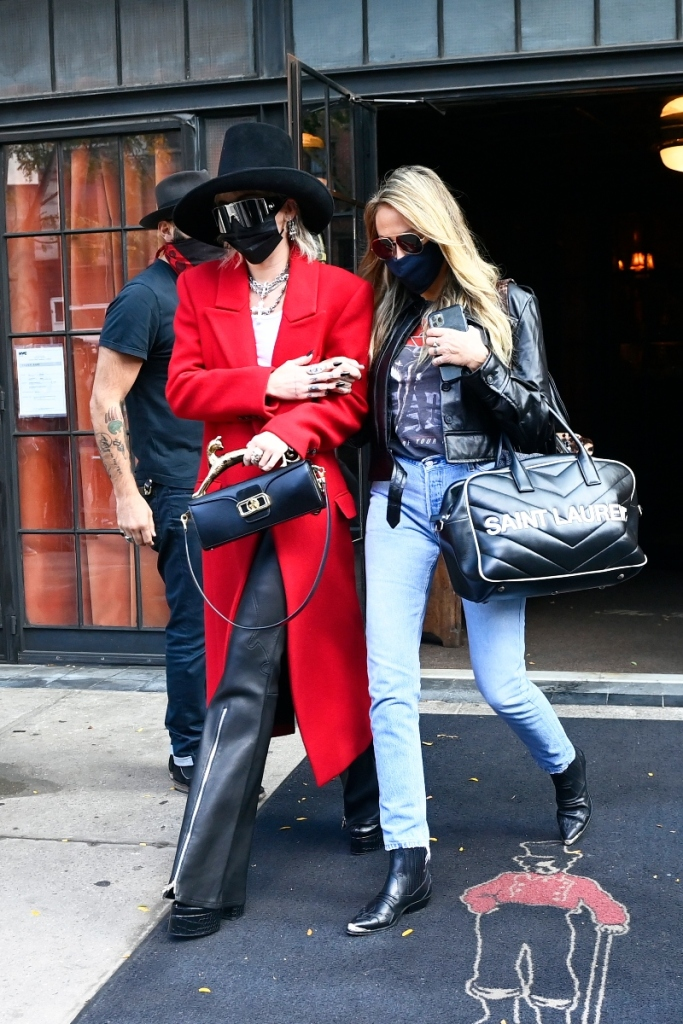 miley cyrus, boots, pants, coat, shirt