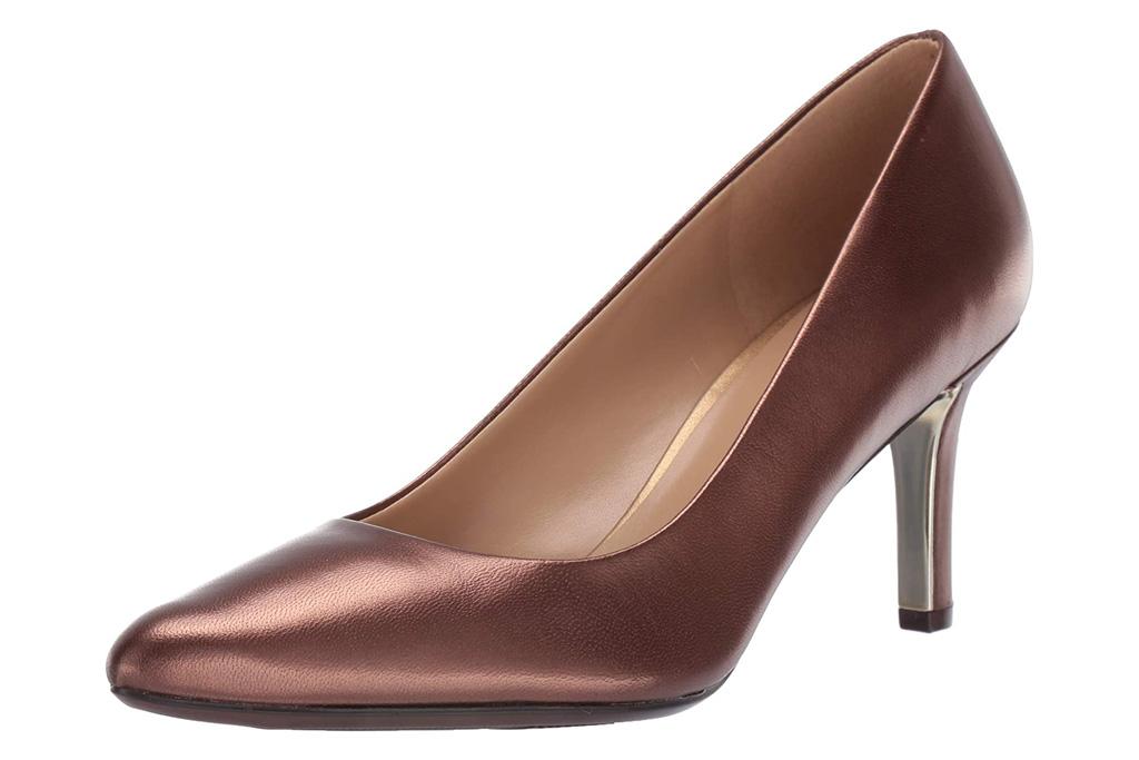 heels, metallic pumps, naturalizer