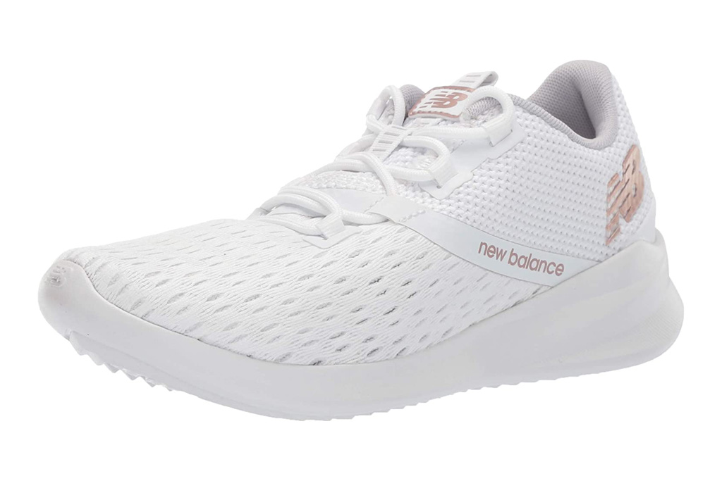 running shoes, white, workout, new balance