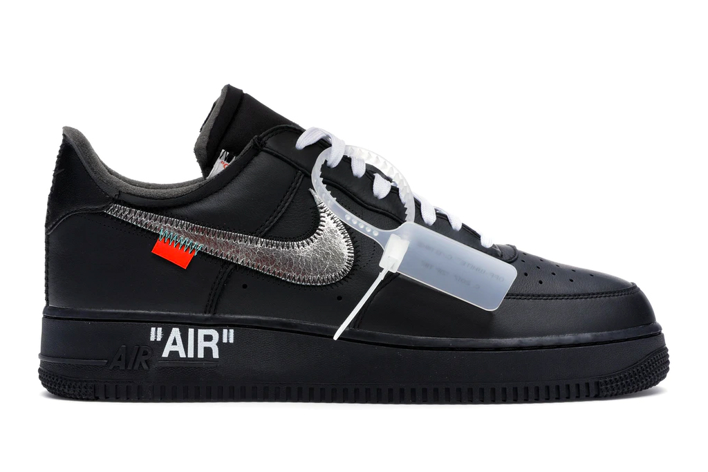 MoMA x Off-White x Nike Air Force 1 sneakers.