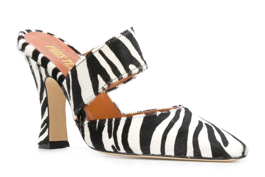 sandals, zebra, heels, paris texas