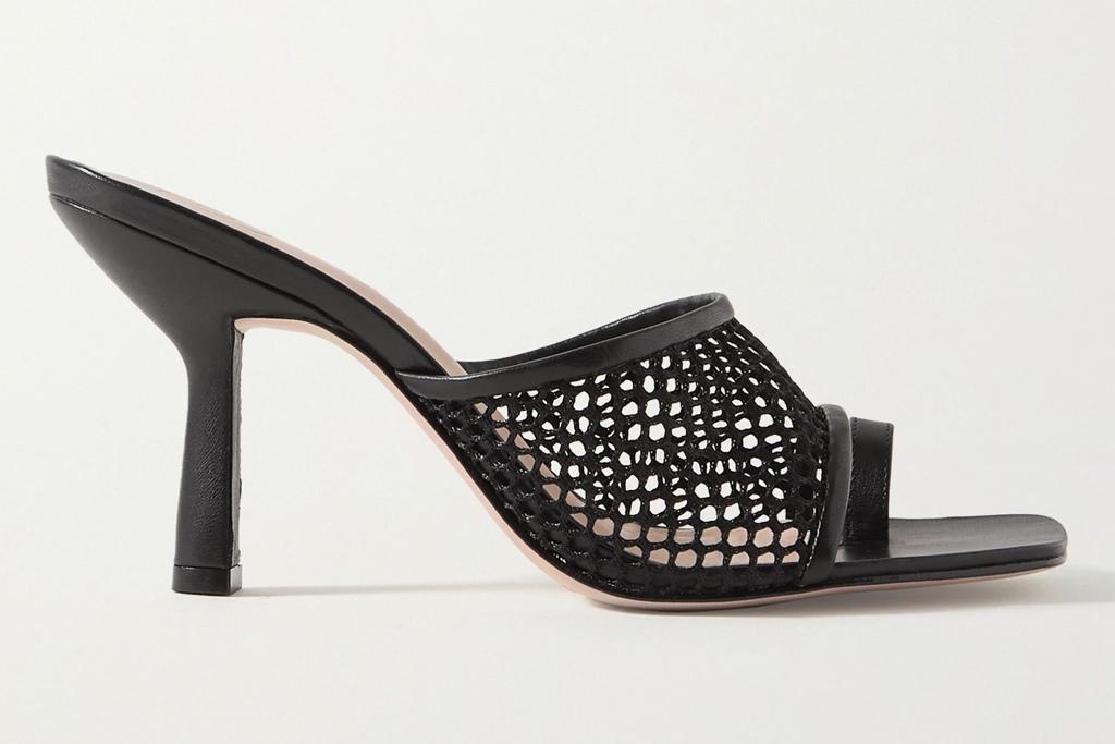 porte and paire, porte, paire, sandals, leather, big toe, fishnet, heels