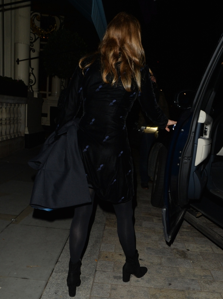 princess beatrice, style, dress, shoes, boots, tights, mask, london
