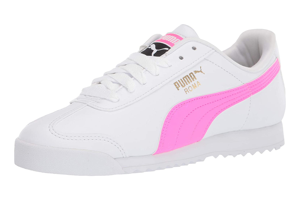 puma, sneakers, pink, white, low top, shoes