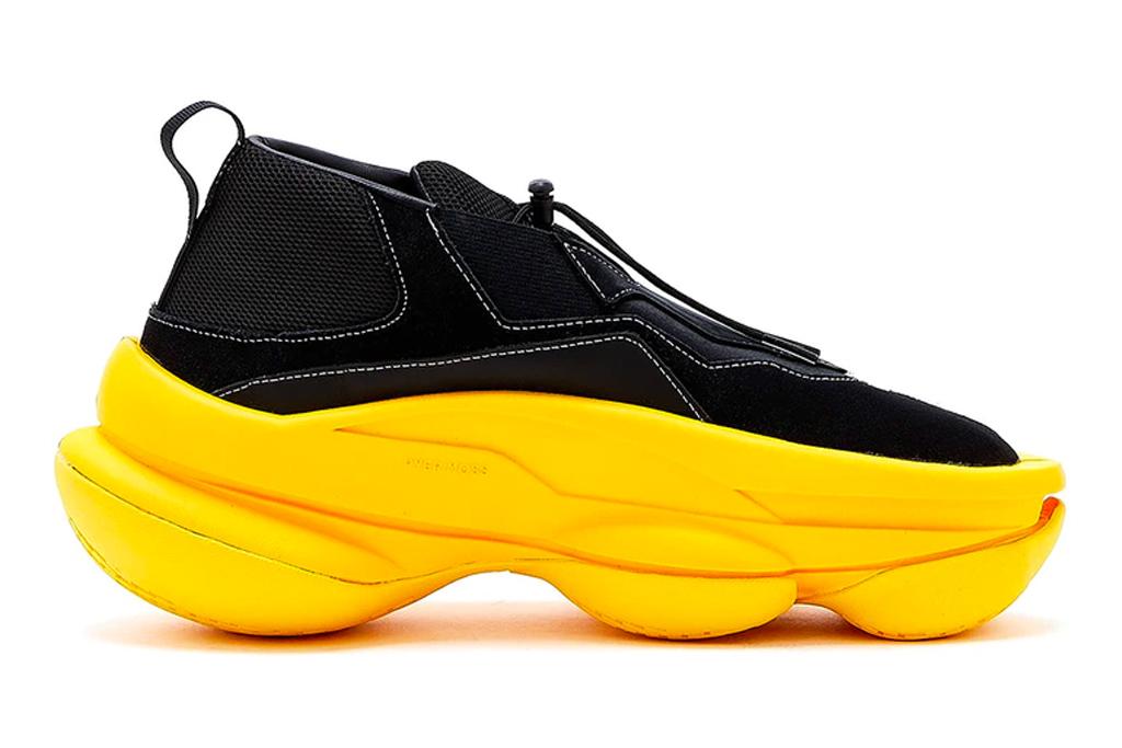 pyer moss, shoe, shoes, sculpt 1, yellow, black