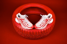 Reebok and Kanghyuk Continue Their Collaborative Car Part Theme With a Bold Red and White Look