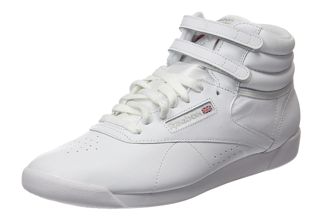 reebok, white sneakers, high top