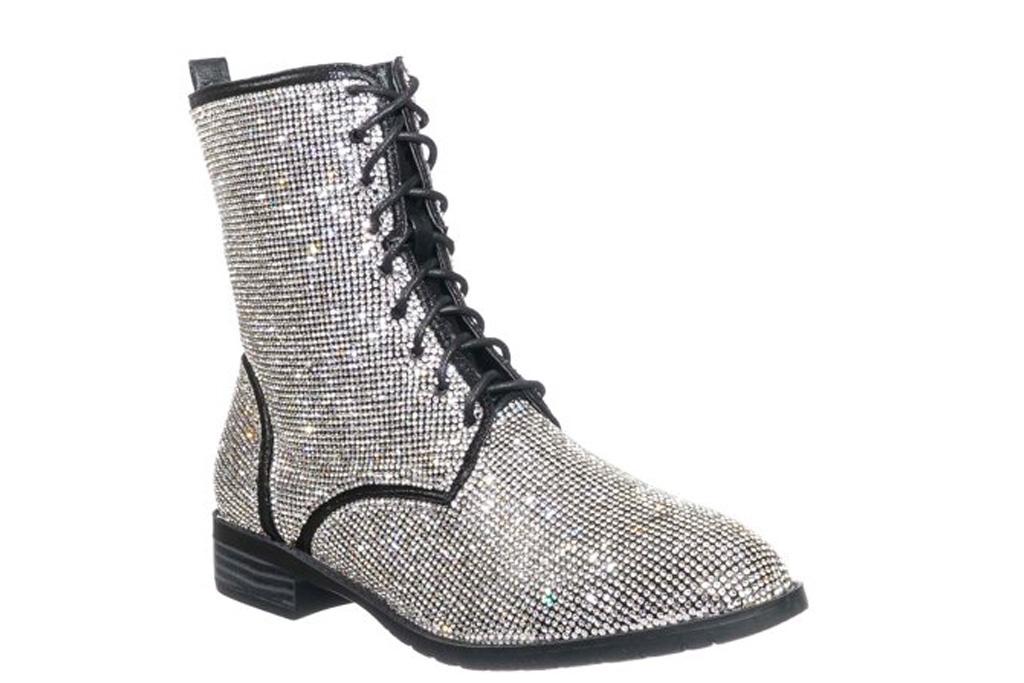 boots, combat boots, glitter, rhinestone
