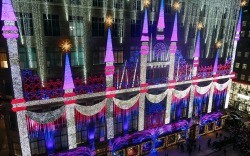Saks Fifth Avenue 2019 holiday light