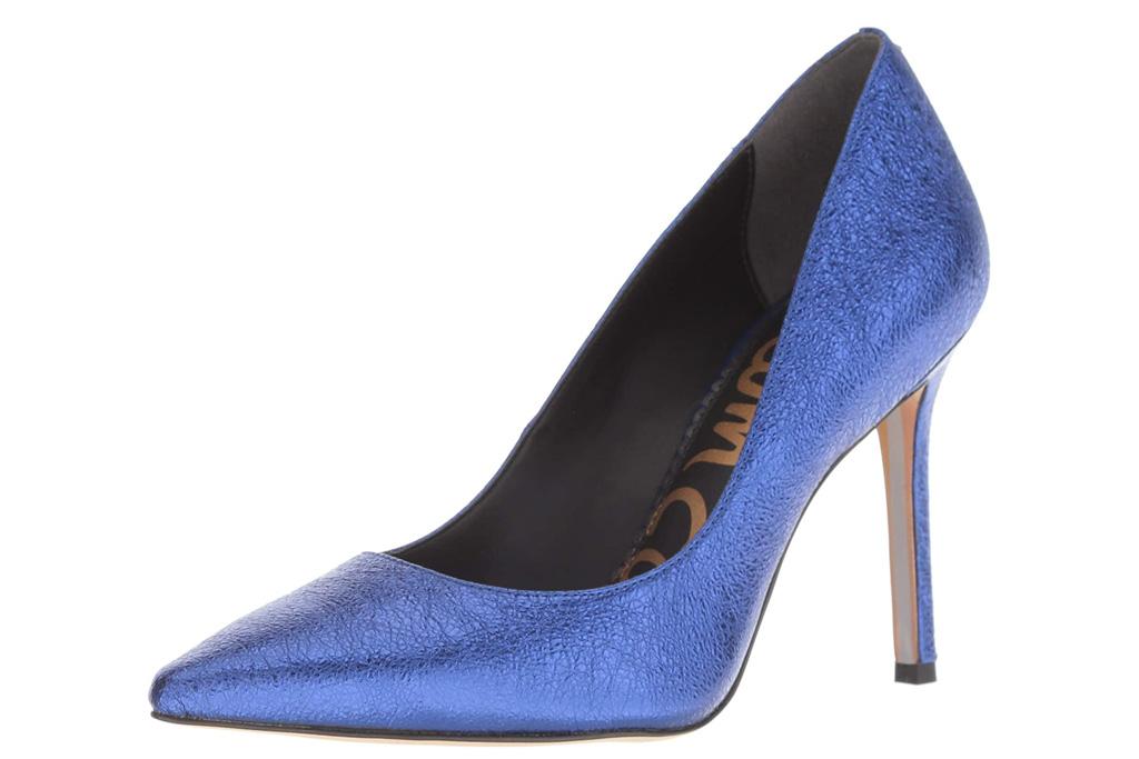 blue heels, pumps, shoes, sam edelman
