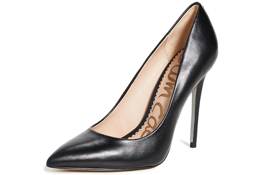 black pumps, heels, leather, sam edelman