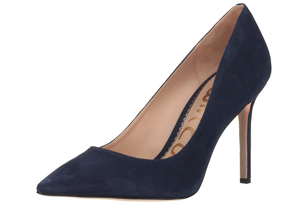 navy pumps, pumps, heels, sam edelman