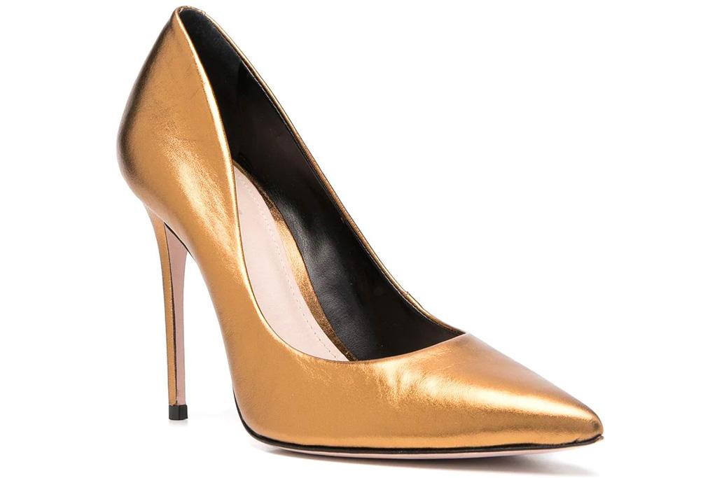 heels, metallic pumps, schutz