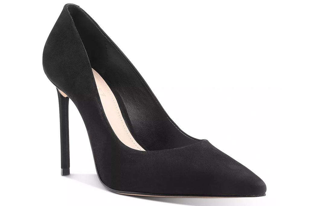 black pump, heels, suede, schutz