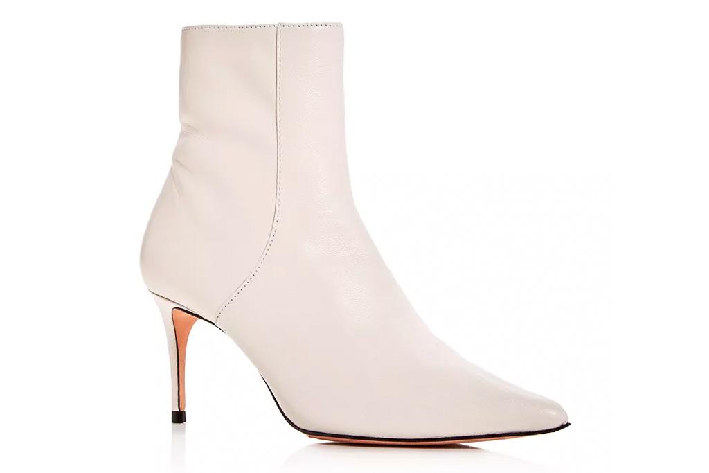 white booties, boots, heels, stiletto, schutz