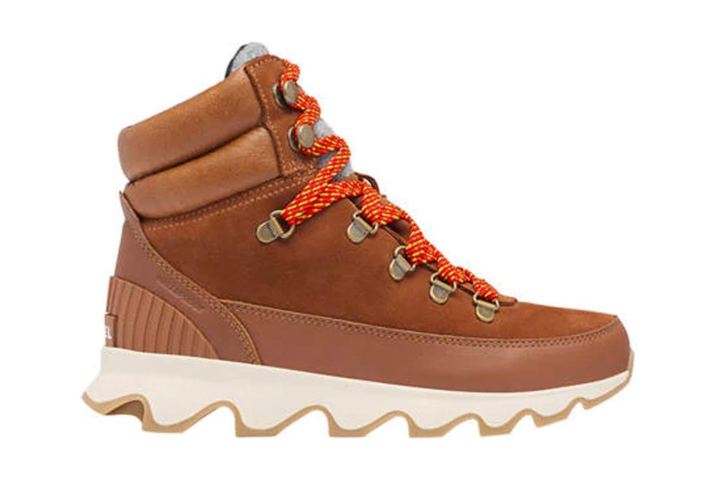 sorel, boots, booties, brown