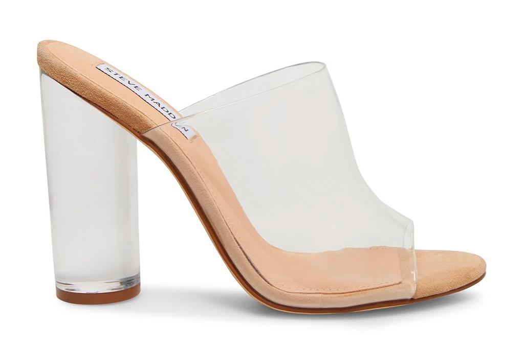 clear, heels, platform, pvc, steve madden