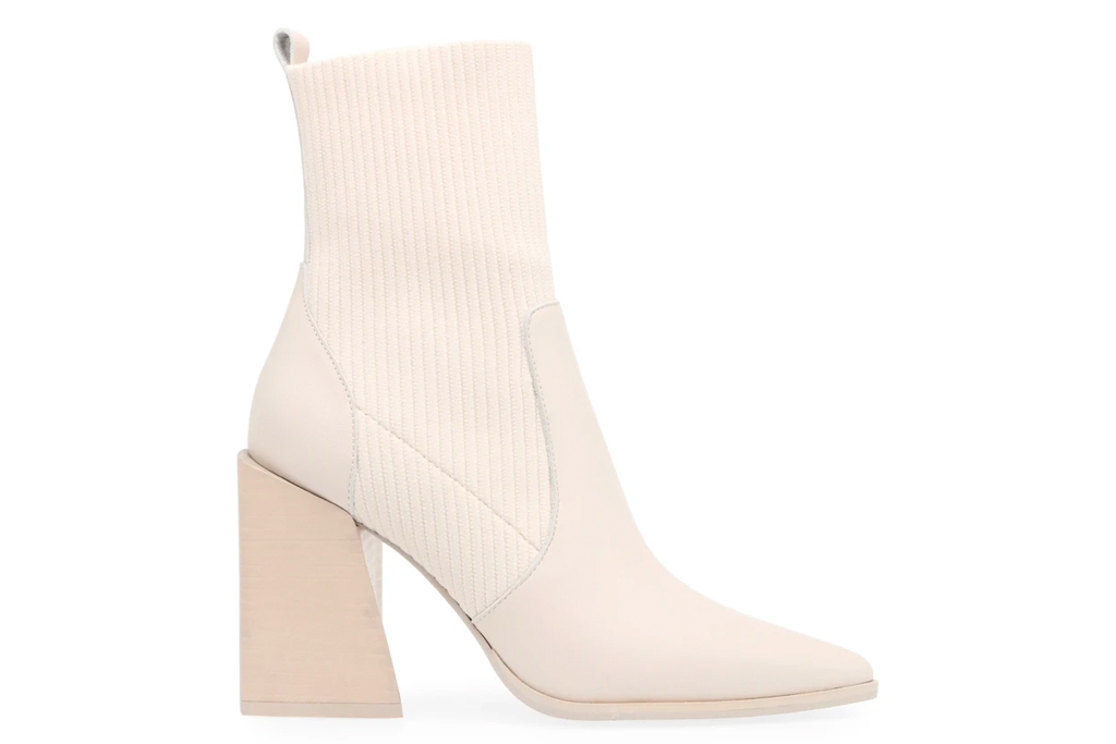 nude boots, sock boots, booties, steve madden