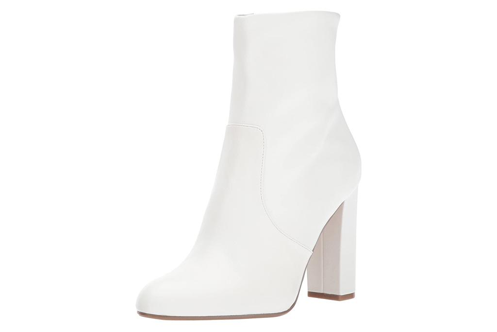 white boots, booties, heels, steve madden