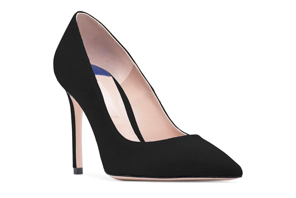 black pump, heels, suede, stuart weitzman
