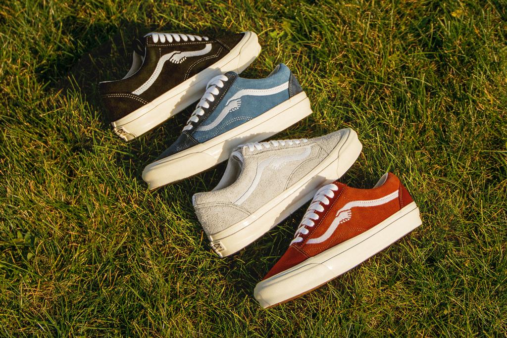 vans, vans vault, notre, chicago, sneakers, blue, red, white, black, shoes