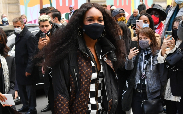 Venus Williams attends the Louis Vuitton Womenswear Spring/Summer 2021 show as part of Paris Fashion Week. 06 Oct 2020 Pictured: Venus Williams. Photo credit: KCS Presse / MEGA TheMegaAgency.com +1 888 505 6342 (Mega Agency TagID: MEGA705899_008.jpg) [Photo via Mega Agency]