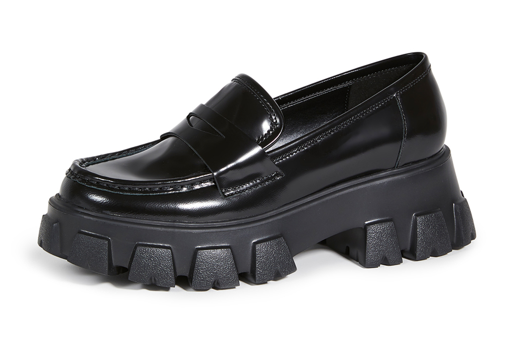 lug-sole, black, chunky, platform, loafers, villa rouge