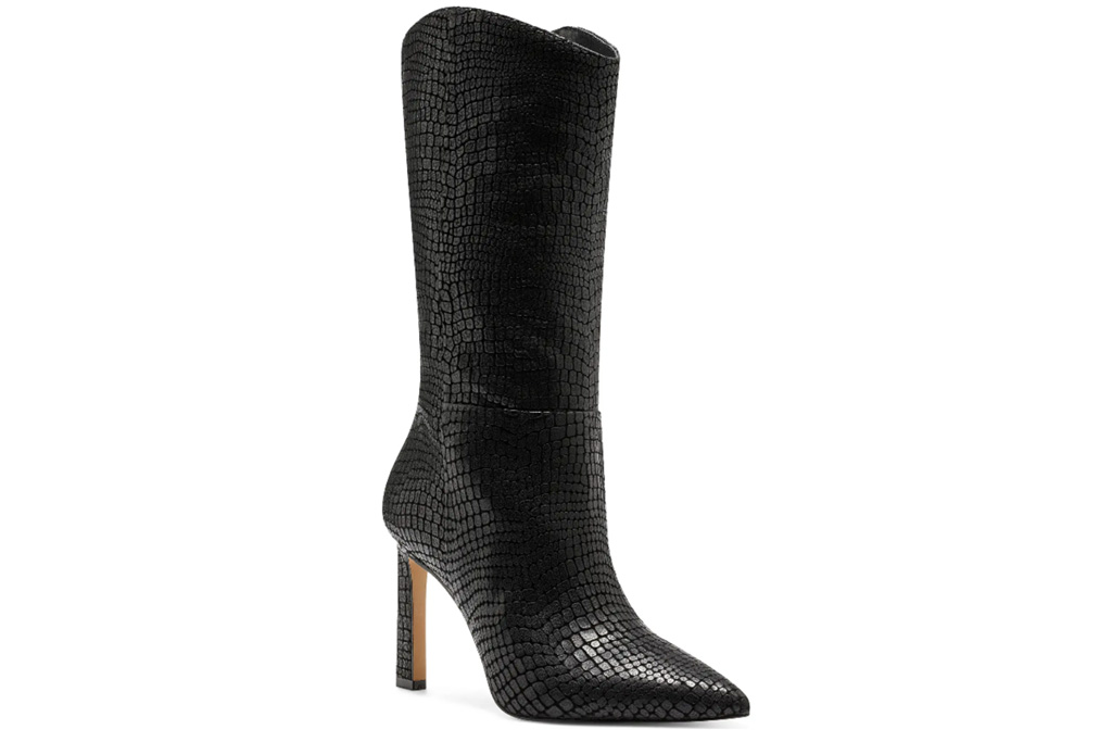 black boots, heels, stiletto, cowboy, western, vince camuto