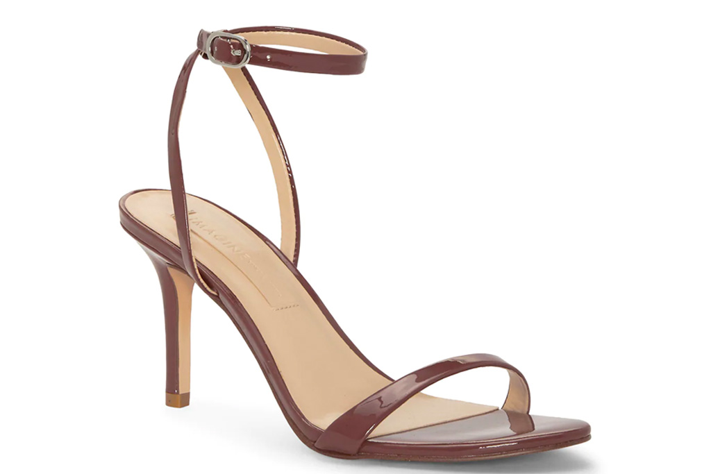 brown sandals, chocolate brown, heels, shoes, vince camuto, imagine