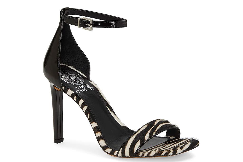 sandals, zebra, heels, vince camuto