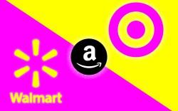 walmart amazon target logos