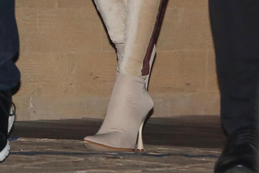 winnie harlow, kyle kuzma, velvet, jumpsuit, heels, boots, lakers, nba