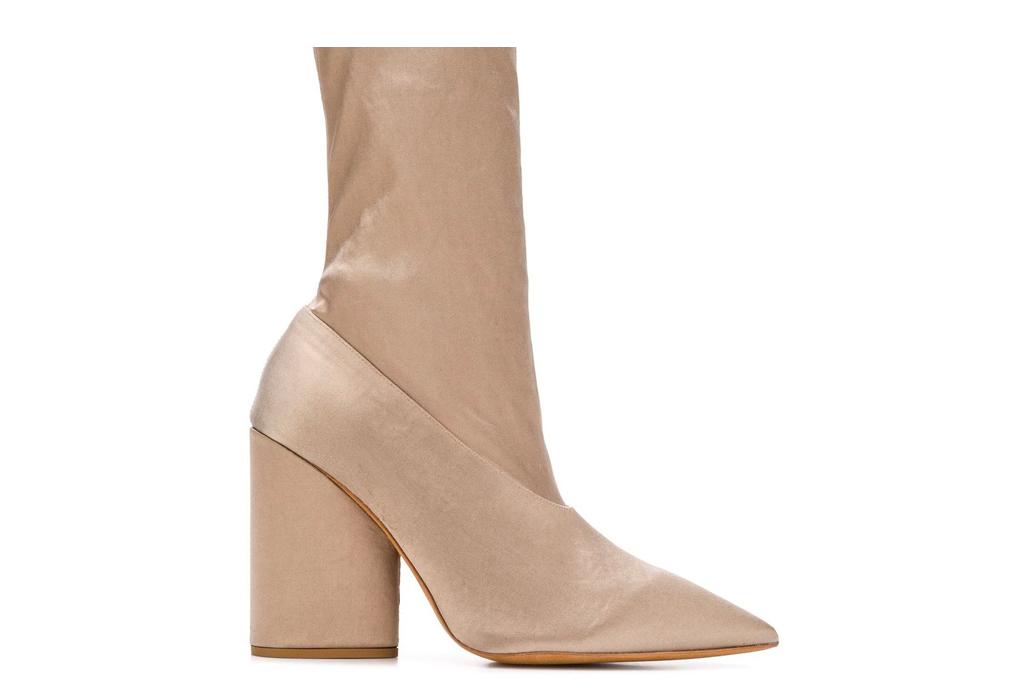 nude boots, sock boots, booties, yeezy