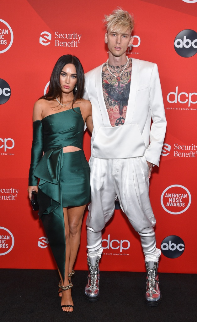 "THE 2020 AMERICAN MUSIC AWARDS - ""The 2020 American Music Awards"", hosted by Taraji P. Henson aired from the Microsoft Theater in Los Angeles, SUNDAY, NOV. 22 (8:00-11:00 p.m. EST), on ABC. (ABC)MEGAN FOX, MACHINE GUN KELLY"
