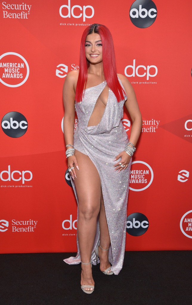 """THE 2020 AMERICAN MUSIC AWARDS - """"The 2020 American Music Awards"""", hosted by Taraji P. Henson aired from the Microsoft Theater in Los Angeles, SUNDAY, NOV. 22 (8:00-11:00 p.m. EST), on ABC. (ABC) BEBE REXHA"""