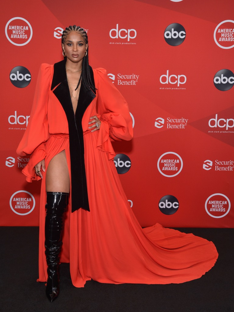 """THE 2020 AMERICAN MUSIC AWARDS - """"The 2020 American Music Awards"""", hosted by Taraji P. Henson aired from the Microsoft Theater in Los Angeles, SUNDAY, NOV. 22 (8:00-11:00 p.m. EST), on ABC. (ABC) CIARA"""