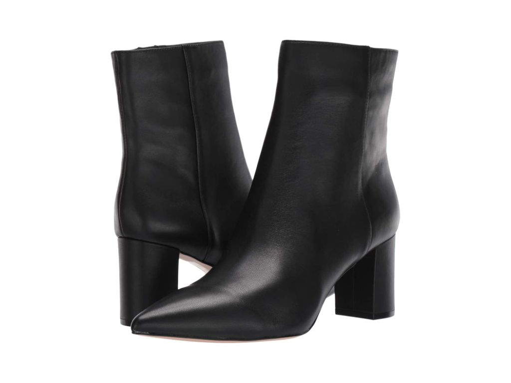 J.Crew Leather Pointy Toe Maya Boot, black boots for women