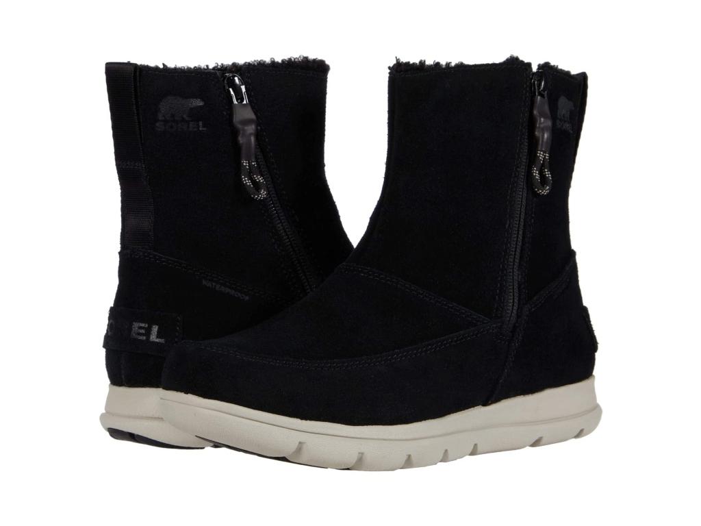 Sorel Explorer Zip Boot, black boots for women