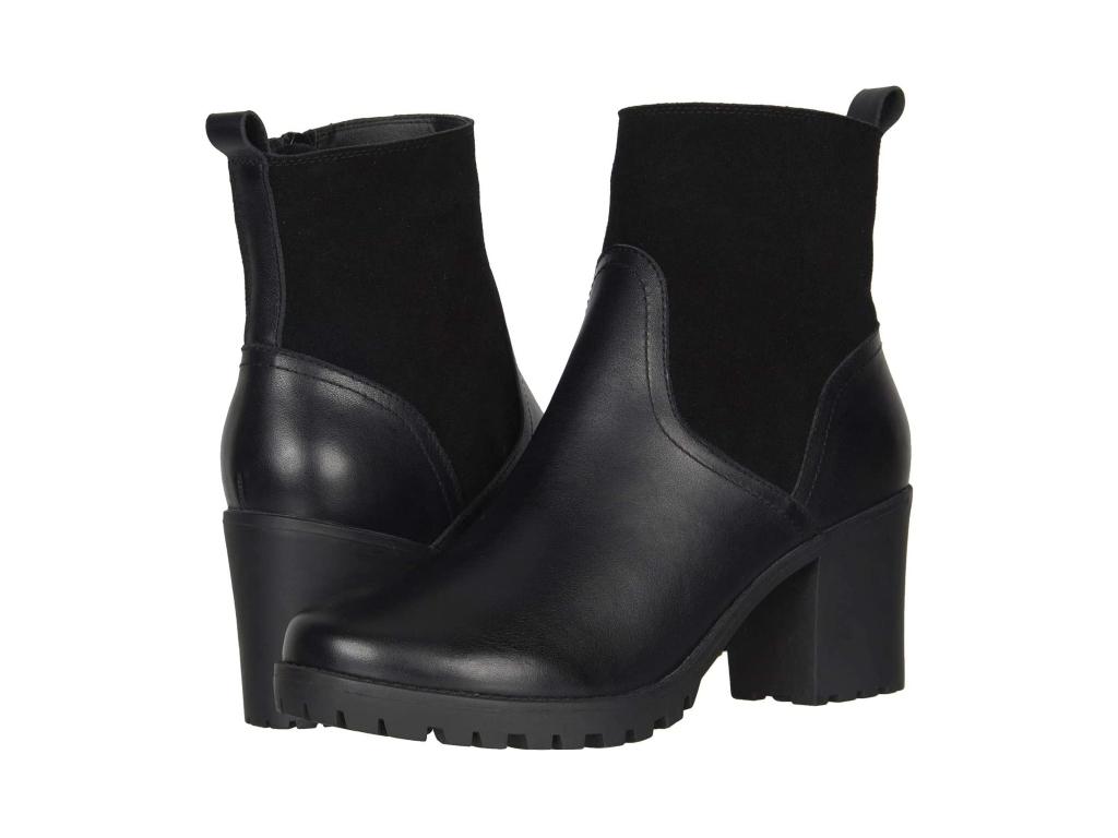black boots for women, Soludos Dani Shearling Platform Boot