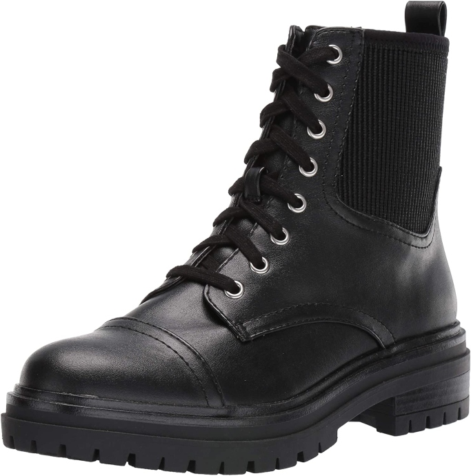 Circus by Sam Edelman Giovanny Combat Boot, black boots for women