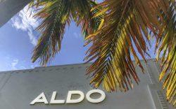 An Aldo retail shoe store logo
