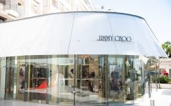 A shop sign of JIMMY CHOO,