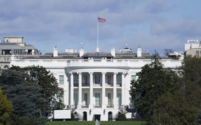 A view of the White House in Washington, Monday, Nov. 2, 2020. (AP Photo/Susan Walsh)