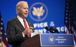 President-elect Joe Biden, accompanied by Vice