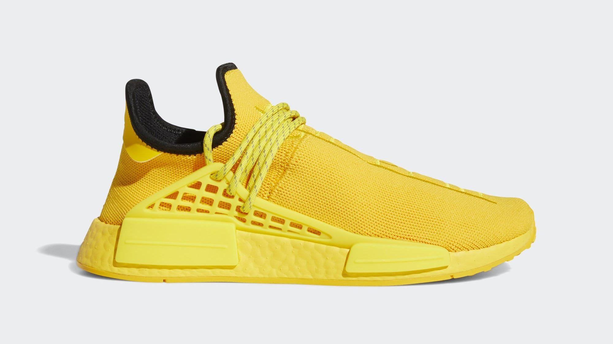 emoción Ir a caminar apagado  Pharrell x Adidas NMD Hu 'Gold' Release Info: How to Buy the Sneaker –  Footwear News