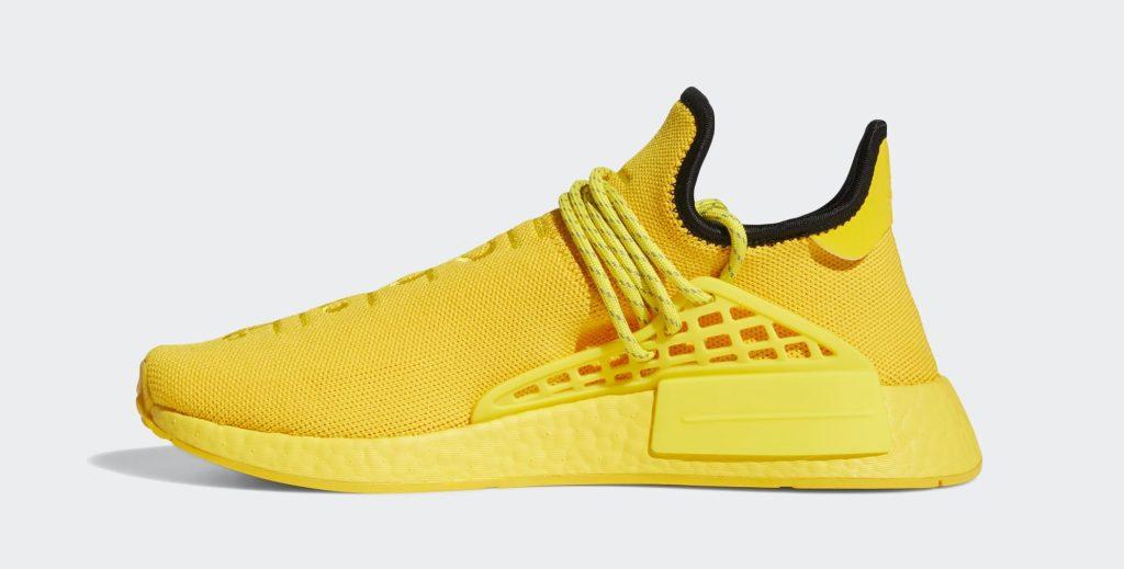 Pharrell x Adidas NMD Hu 'Gold' Medial