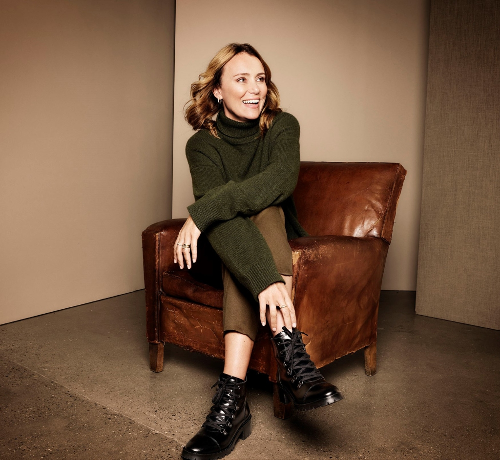 Keeley Hawes Clarks Holiday Campaign