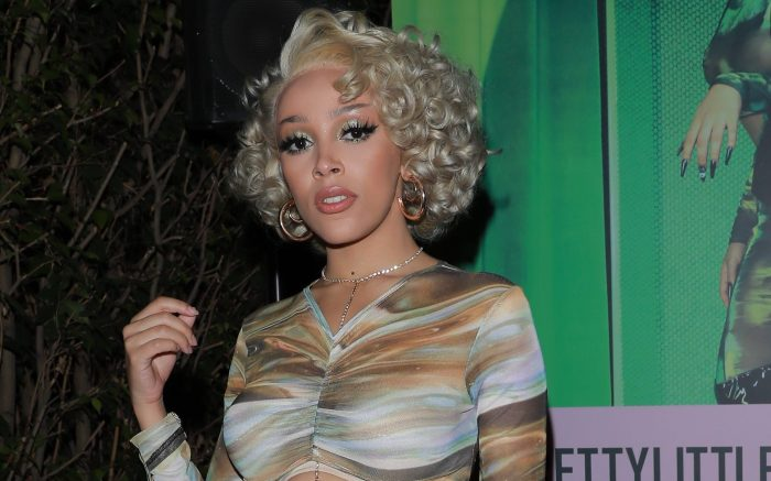 Exclusive Inside Doja Cat PrettyLittleThing collection launch at Boa Stake House in West Hollywood.Celebritiy guests include Doja Cat, French Montana, Saweetie, Quavo