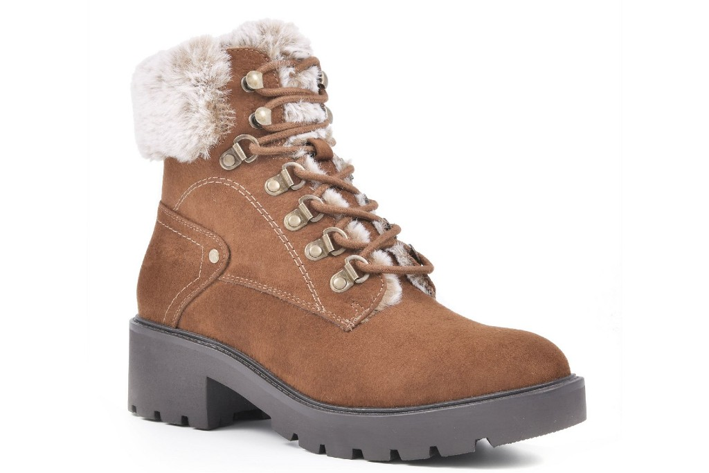 White Mountain Deserve Lace-Up Lug Sole Booties